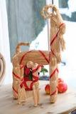 Weihnachtsziegen Stockbild