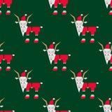 Weihnachtsziegenmuster Stockfotografie