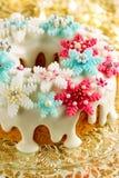 Weihnachtszuckerpfundkuchen Stockfoto