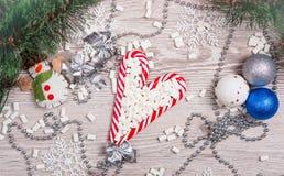 Weihnachtszuckerstangen Lizenzfreies Stockbild