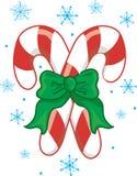 Weihnachtszuckerstangen stock abbildung