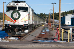 Weihnachtszug-Maschine in Williams, Arizona Lizenzfreie Stockfotos