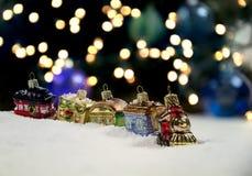 Weihnachtszug-Verzierung Stockfoto