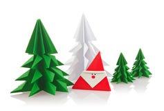Weihnachtszusammensetzung des Origamis Stockfotografie