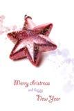 Weihnachtszusammensetzung mit Geschenkbox und Dekorationen Stockfoto