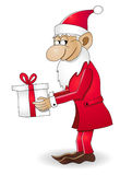 Weihnachtszwerg mit Geschenk stock abbildung