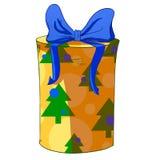 Weihnachtszylindergeschenkbox Stockfotografie