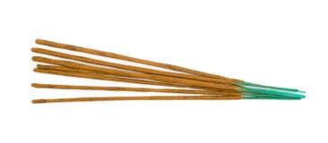 Weihrauch-Aromastöcke Browns indische lokalisiert auf weißem Hintergrund lizenzfreies stockbild