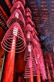 Weihrauch-Spulen in Guandi-Tempel Stockfoto