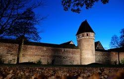 Weil der Stadt by night. Weil der Stadt;little ancient city inside the walls in the close to Stuttgart Stock Photography
