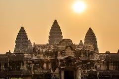 Weilesonnenaufgang Ankor Wat lizenzfreies stockfoto