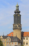 Weimar Castle, Thuringia, Germany. Castle of Weimar, Thuringia, Germany; closeup on the tower Royalty Free Stock Images