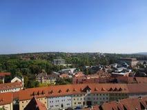 Weimar från himmel Royaltyfria Foton