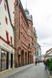 WEIMAR, GERMANY/EUROPE - 14 DE SETEMBRO: Cena típica da rua dentro fotografia de stock royalty free