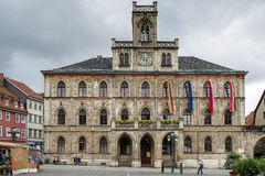 WEIMAR, GERMANY/EUROPE - 14 SEPTEMBER: Mening van het Stadhuis binnen stock afbeeldingen