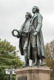 """WEIMAR, GERMANY/EUROPE - 14 SEPTEMBER: Mo van Goethe†""""Schiller stock afbeelding"""