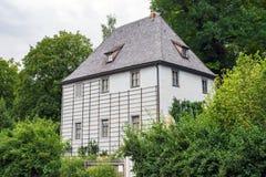 Weimar Goethe domu ogródu parka widoku Thuringia Niemcy Zdjęcie Royalty Free