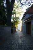 Weimar Seifengasse no sol da manhã imagem de stock royalty free