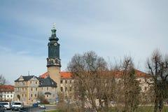 Weimar-Stadt-Schloss Stockbild