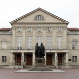 Weimar Theater. A view of the front or facade of the famous Weimar Theater in Weimar, Germany Royalty Free Stock Images
