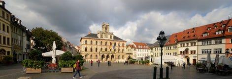 Weimar, ville hôtel et place du marché Image stock