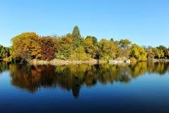 Weiming Lake in Peking University. Aun scenery of Weiming Lake,The Unnamed Lake in Peking University stock photo