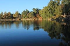 Weiming sjö i det Peking universitetet Arkivbild