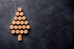 Wein bekorkt geformten Weihnachtsbaum lizenzfreies stockfoto