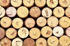 Wein bekorkt Hintergrund Lizenzfreies Stockbild