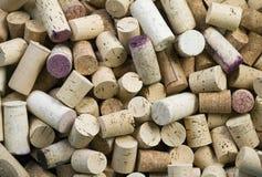 Wein bekorkt Hintergrund Lizenzfreies Stockfoto
