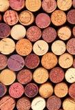 Wein bekorkt Hintergrund stockfotografie