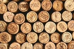 Wein bekorkt Oberseiten stockbild