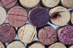 Wein bekorkt Sammlungsnahaufnahme lizenzfreie stockfotos
