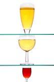 Wein, Bier und Spiritus Lizenzfreie Stockfotos