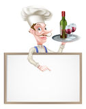 Wein-Chef Sign Stockfotos