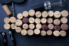Wein Cork Collection Stockfotografie