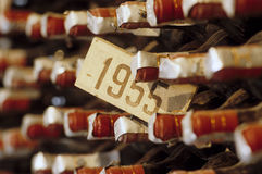 Wein des Jahres 1955 Stockfotografie