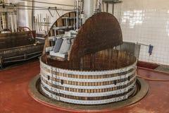 Wein drücken Champagne Dizy ein Stockfotografie