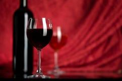 Wein in einem Glas Lizenzfreies Stockbild
