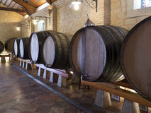 Wein-Fässer - spanisches Bodega - Spanien Stockfoto
