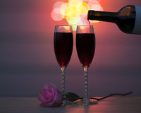Wein für zwei Lizenzfreies Stockfoto
