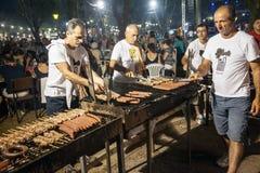 Wein-Festival 2014 in Alexandroupolis - Griechenland stockbild