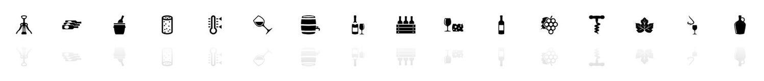 Wein - flache Vektor-Ikonen vektor abbildung