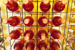 Wein-Flaschen Stockfoto