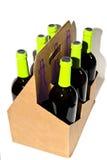 Wein-Flaschen-Träger lizenzfreie stockbilder