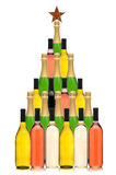 Wein-Flaschen-Weihnachtsbaum Lizenzfreies Stockbild