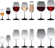 Wein-Gläser Lizenzfreie Stockfotos