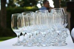 Wein-Gläser Stockbild