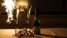 Wein-Gläser mit Prosecco Stockbilder