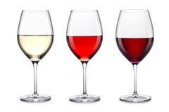 Wein-Glas-Satz Stockfotos